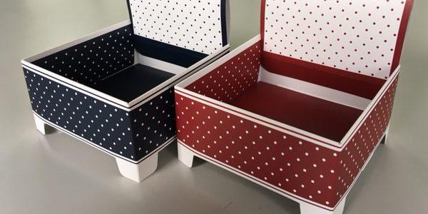 ディスプレイに便利な積み重ね可能な紙箱、スタッキングボックス