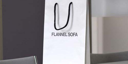 FLANNEL SOFA様 カタログ配布用〈マットPP手提げ紙袋〉