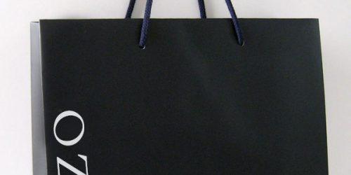 時計・宝飾店様向け高級感のある商品用〈手提げ紙袋〉