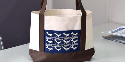 学校様のオープンキャンパス頒布・販売向け〈ポリエステル600D+PVC製バッグ〉