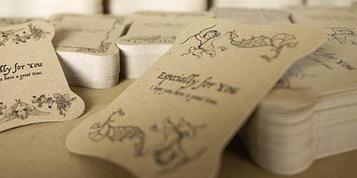 手芸用品ネットショップ販売用の、太糸を巻きつけても折れない糸巻台紙
