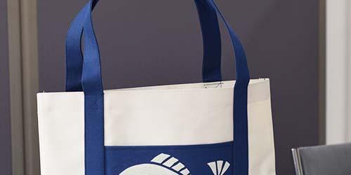 中学・高校イベント用。ポリエステル600D+PVC使用のフルオーダーメイド・オリジナルバッグ