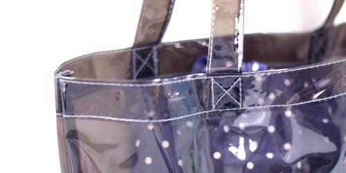 漫画家様イベント販促品用 透明グレー透明舟底バッグ+不織布巾着袋のセット