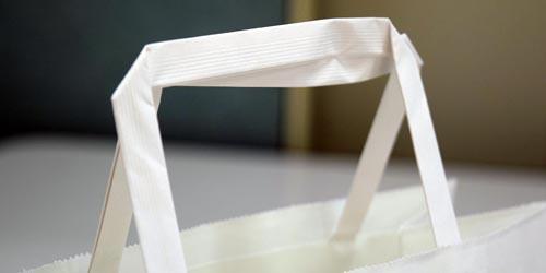 ケーキ・スイーツのお持ち帰り用の、一枚単価が低い手提げ紙袋