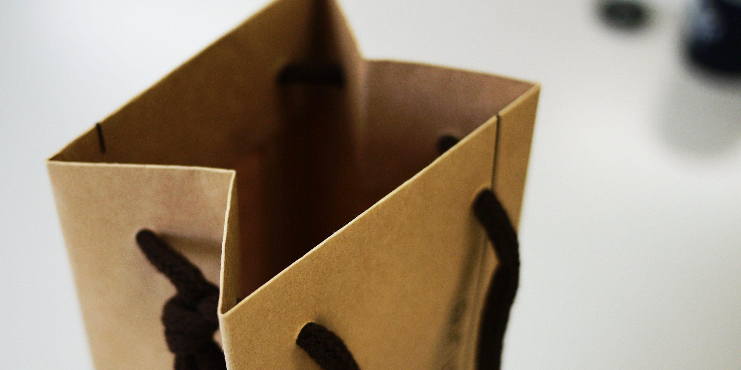 ワインボトル用手提げ紙袋(1本用)