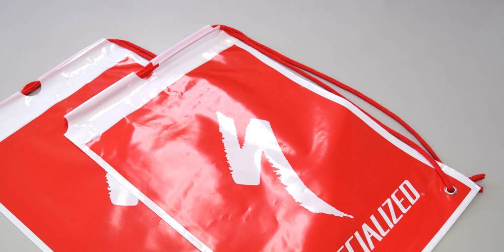 サイクルショップ様オリジナルのポリ片ナップショルダーバッグ