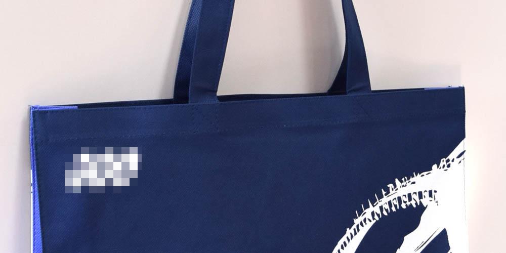 システム機器メーカーの展示会用、手提げ不織布バッグ(大サイズ)