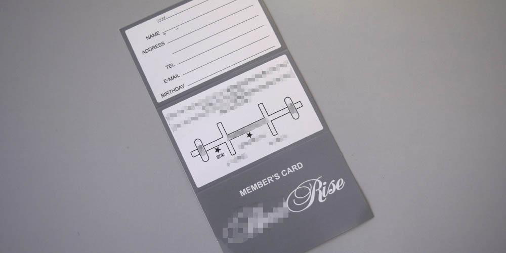 アパレル様向け三つ折りタイプメンバーカード