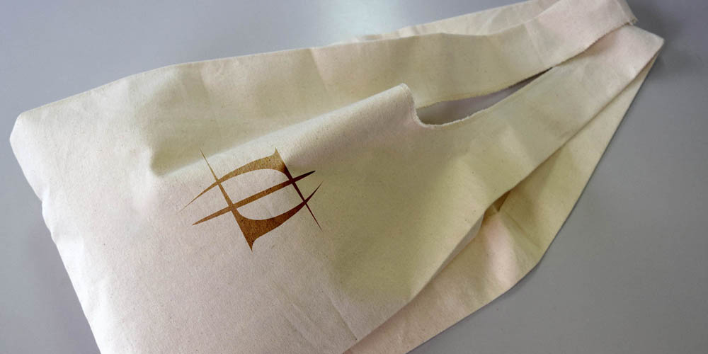 レジ袋有料化に対応、帆布製エコバッグ(マルシェバッグ)
