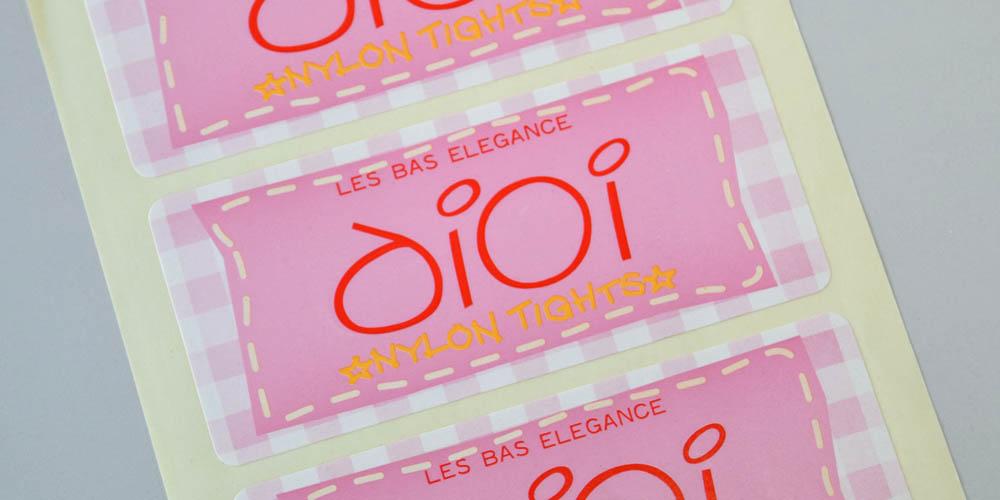 アパレルショップ向け商品封緘・包装用片面アート紙ラベル(シール)
