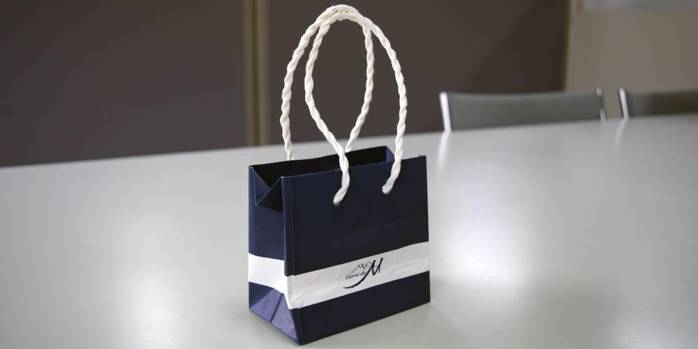 ノベルティ用の超小型紙袋