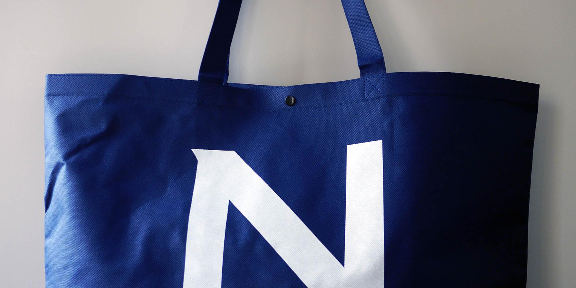 重たい荷物でも安心の大容量不織布バッグ