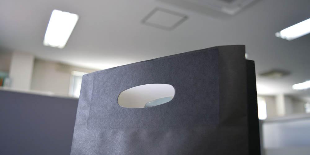 アパレル向け小型商品用小判穴ショッパー
