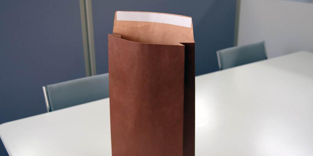 金箔押し加工・粘着テープ付きギフト用宅配紙袋