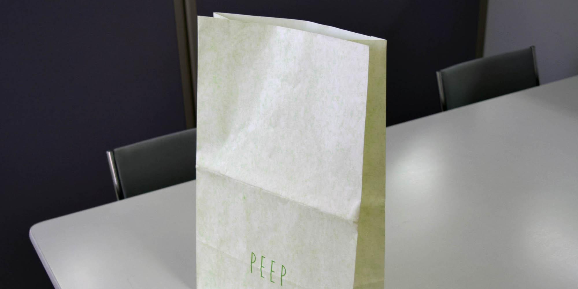 アパレル向け角底紙袋(中サイズ)