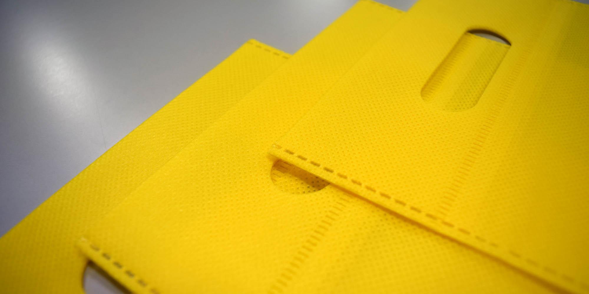 レトルト食品(タコライス )の購入・お持ち帰り用の不織布超音波縫製バッグ