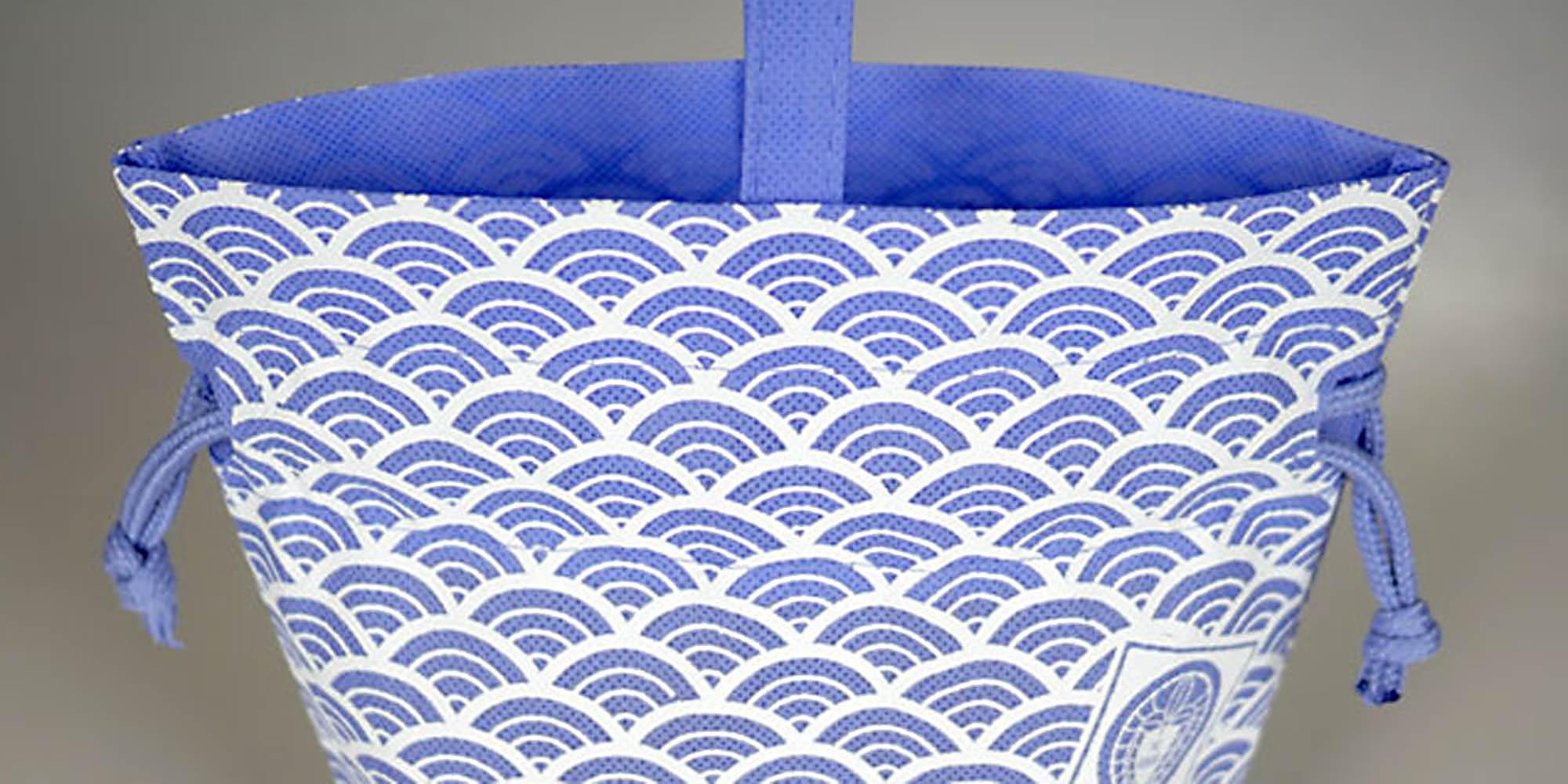 信玄袋のように使える、オリジナル製作の不織布巾着・手提げ袋